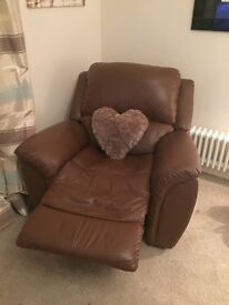 Lazy boy leather electric recliner