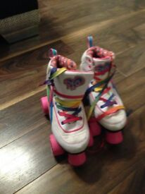 Girls Rio rollers roller boots size 2 uk only worn a few times like new