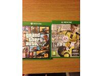 Xbox 1 Fifa 17 and GTA 5