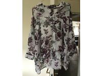 Floral TU clothing blouse