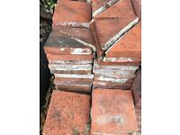 Victorian quarry tiles red