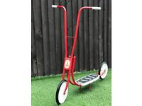 Classic Red & White 1970's Rayleigh Scooter