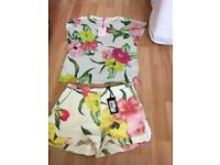 Ted baker shorts and top size 1