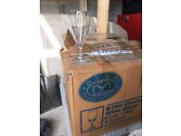 Champagne flutes 8 Ounces approximately 40+ (or sell seperately £1 each)