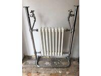 Vintage Victorian small white radiator