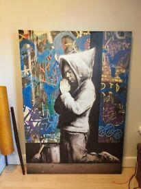 Praying Boy Banksy Art Canvas