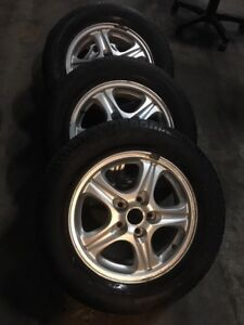 225/60/16 all season tires with aluminium rims