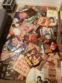 """80 or so 12"""" records for sale, bowie, beatles, the stones, bee gees, status quo, bob dylan, queen,"""