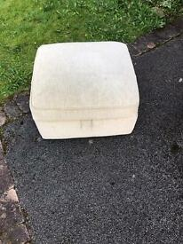 Cream footstool
