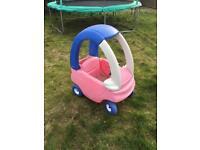 Kids ride on pink car