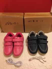 Pink /Blue flashing trainers - size 10.5 toddler - unused