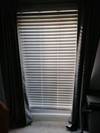 Wood effect blinds.