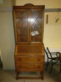1920's oak bureau bookcase