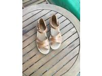 Clarks leather sandals size 6.5