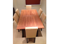 John Lewis Dining Table and Six Matching Dining Chairs Set JUST REDUCED