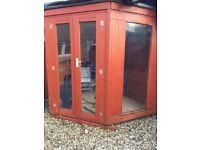 Corner summerhouse free