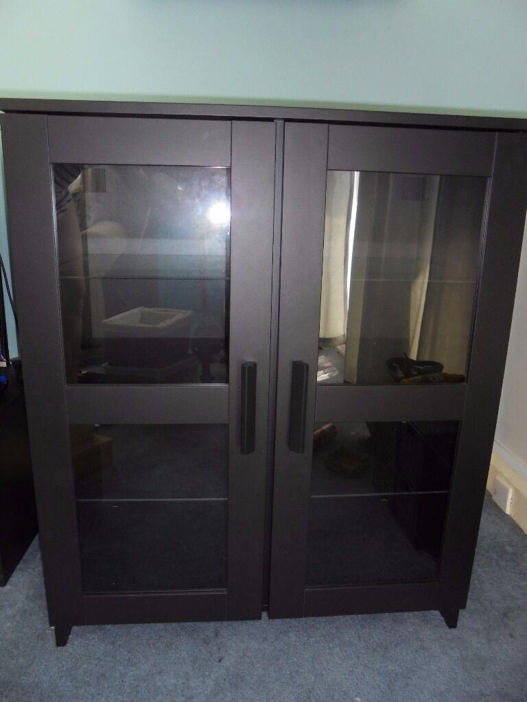 ikea brimnes cupboard with glass doors in bognor regis west sussex gumtree. Black Bedroom Furniture Sets. Home Design Ideas