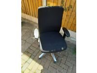 Black Office Chair with arm rest (Great condition)