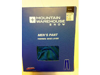NEW IN PACKAGE Mountain Warehouse Blue Isotherm Base Layer Pants, XL