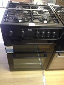 Black 60cm gas cooker