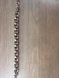 9ct gold belcher bracelet 57g