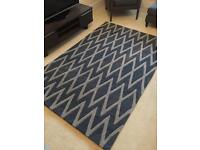 BRAND NEW Large Blue & Grey Rug