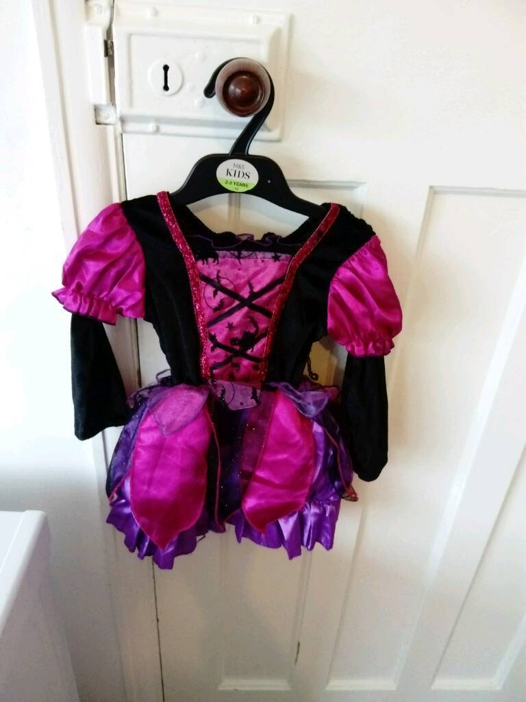 Witch Halloween outfit with tights 12-18 months