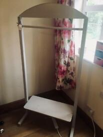 Shabby chic vintage wooden clothes rail
