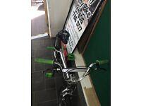 "BMX Silver/Green 12.5 "" Inch"