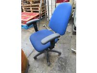 blue office chairs on wheels only £10!! 3 AVAILABLE