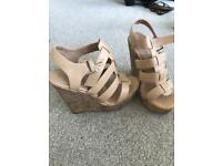 Size 5 tan wedges