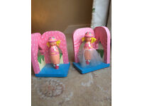 Pretty pair of ballerina bookends