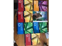 A Level Edexcel Maths Books - C3/C4/S1/S2/S3/M1 + AS Physics Book