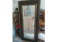 A Stunning Heavy Large Long Wall Mirror for sale