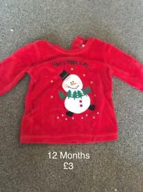 12 Months Christmas jumper.