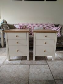 Bedroom Furniture - Bedside cabinets with solid oak top. Good condition.