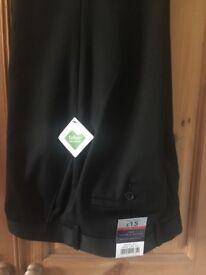 Men's Tailor & Cutter black trousers bnwt