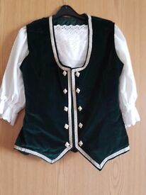 £40 Green waistcoat incl blouse