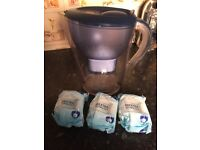 Brita water filter jug with 3 new filters - delivery available