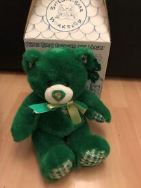 Build A Bear Limited Edition 2012 Lucky Plaid St.Patricks Day Bear In Box With Tags