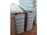 """4'6"""" double four drawer divan bed with mattress in excellent condition"""