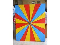 "Original large acrilyc canvas painting ""Breakthrough""."
