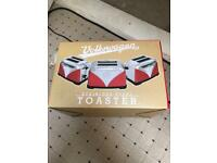 Stainless steel toaster limited edition Volkswagen Red