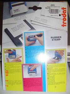 TRODAT MODEL PRINTY 4952 DO-IT-YOURSELF RUBBER STAMP 4 LINE SET Windsor Region Ontario image 2