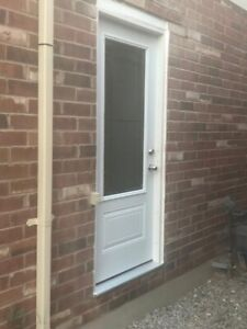Windows doors and side entrance