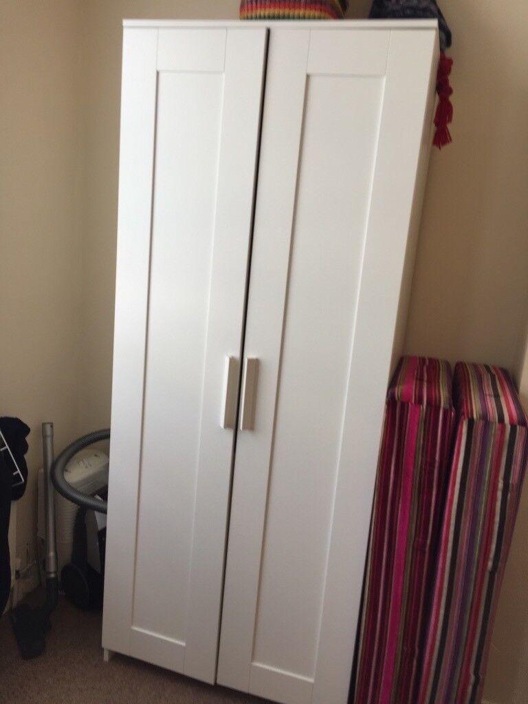 Wardrobe White 2 Doorwidth 78 Cm X Depth50cm X Height190 Cm In