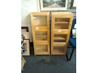 Modern Cabinet light wood colour (wall fixing ) with glass door #41406 £25 (only one left)
