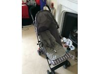 Mothercare nanu stroller including minene liner and koo-di sun+sleep cover