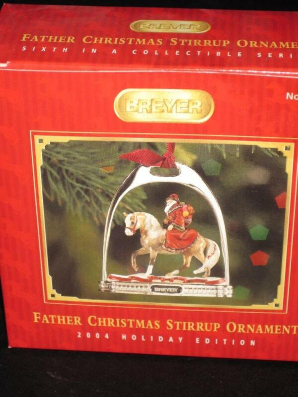 Breyer 2004 FATHER CHRISTM AS Holiday Stirrup 6th in Collectible Series  MIB
