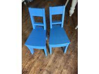 Children chairs x2